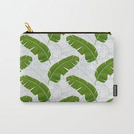 Banana Leaves_ Bg White Carry-All Pouch
