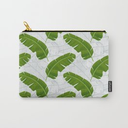 Banana Leaves_ Bg White Carry-All Pouch