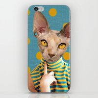 polka dot iPhone & iPod Skins featuring DOT by Julia Lillard Art