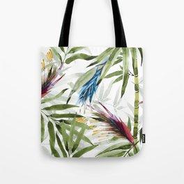 Exotic plants watercolor Tote Bag