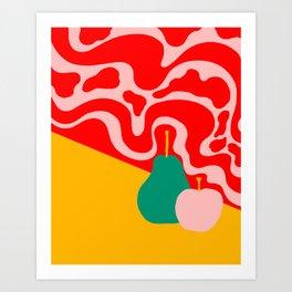 apple and pear Art Print