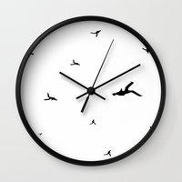 mad men Wall Clocks featuring Mad Men by Jonny Yuma