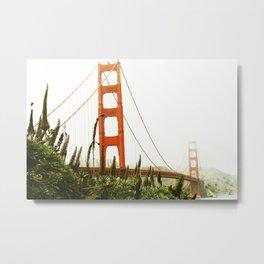 Green Golden Gate Metal Print
