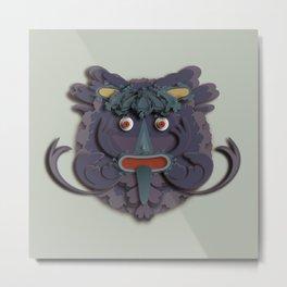 A Green Man that's Purple Metal Print