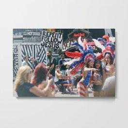 Times Squares Metal Print