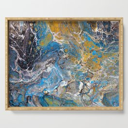 Mineralogy - Abstract Flow Acrylic Serving Tray