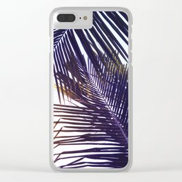 Palm Leaf in Sunset Clear iPhone Case