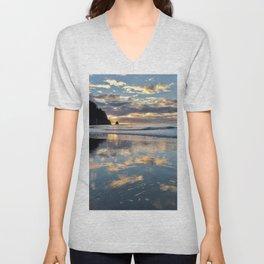 Sunset reflection Unisex V-Neck