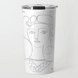 Pablo Picasso La Femme Au Collier (Woman With A Necklace) Travel Mug