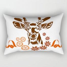 Christmas design with deer Rectangular Pillow