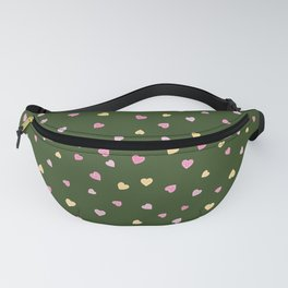 Little hand-drawn pink, red and yellow hearts Fanny Pack