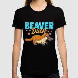 Beaver Duck Platypus Pun Cute Duck Billed Platypus T-shirt