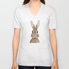 cute innocent rabbit Unisex V-Neck
