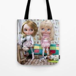 BLYTHE DOLL OLI AND MEGAN ERREGIRO Tote Bag