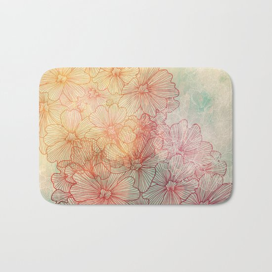 Flowery Field Bath Mat