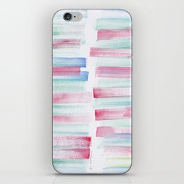 17 | 181101 Watercolour Palette Abstract Art | Lines | Stripes | iPhone Skin