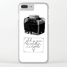 The Pen is Mightier Clear iPhone Case
