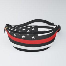 Thin Red Line Firefighters US Flag Fanny Pack