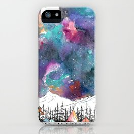 Mountain Camp Vibes iPhone Case