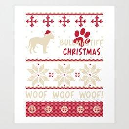 Bullmastiff christmas gift t-shirt for dog lovers Art Print