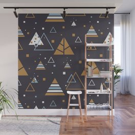 Polar Winter Tree Abstract Pattern Wall Mural