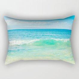Ocean Blue Beach Dreams Rectangular Pillow