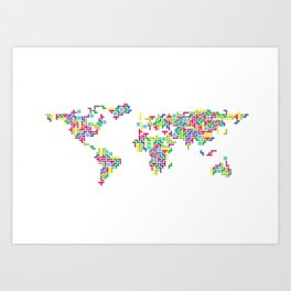 Tetris world (white one) Art Print
