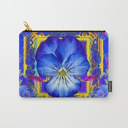 DECORATIVE BLUE PANSY & VINING  MORNING GLORIES Carry-All Pouch