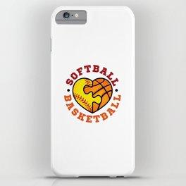 Softball Basketball iPhone Case