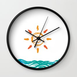 Sunny day out Wall Clock