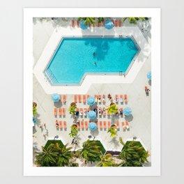 miami hotel aerial view Art Print