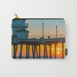 Fall Sunset Through the Pier Carry-All Pouch