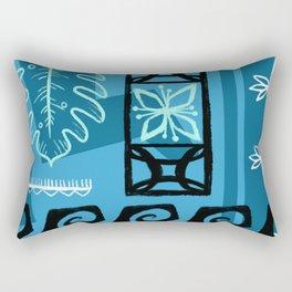 Hawaiian Pattern #1 - aqua! Rectangular Pillow