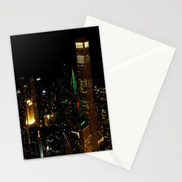 A Christmas Skyline in Chicago (Chicago Christmas/Holiday Collection) Stationery Cards