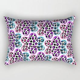 Rainbow Leopard Flower Rectangular Pillow