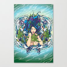 GANJA GIRL Canvas Print