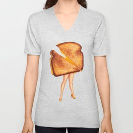 Grilled Cheese Sandwich Pin-Up Unisex V-Neck