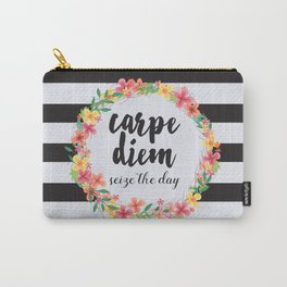 Carpe Diem / Seize The Day Quote Carry-All Pouch