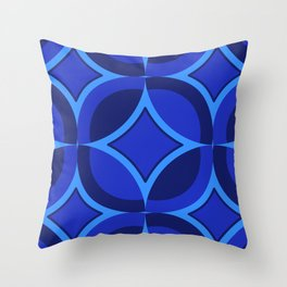 Mod Geo Blue Throw Pillow