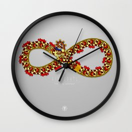 Xihucoatl - The Fire Serpent Wall Clock