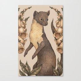 The Marten and Foxglove Canvas Print