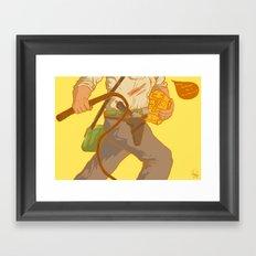 Golden Idol Framed Art Print