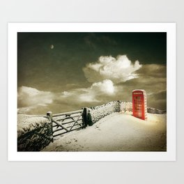 Winter in the Cotswolds, England Art Print