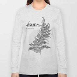 Fern. Keep you secret world inside. Long Sleeve T-shirt
