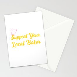 Support Your Local Baker1 Stationery Cards