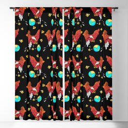 Drop the World Pattern Blackout Curtain