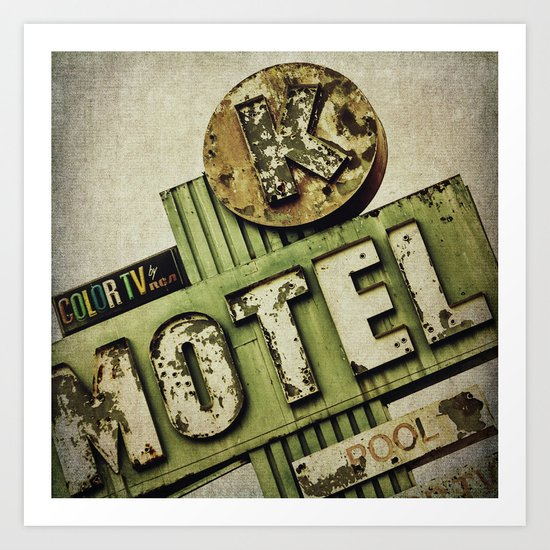 Circle K Motel Sign  Art Print