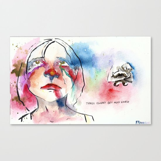 Things couldn't get much worse Canvas Print