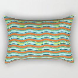 Summer Beach Boy Waves Rectangular Pillow
