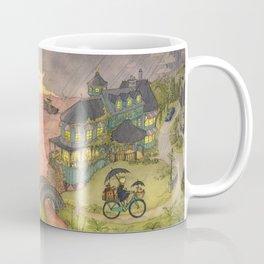 Rain On The Sea Coffee Mug